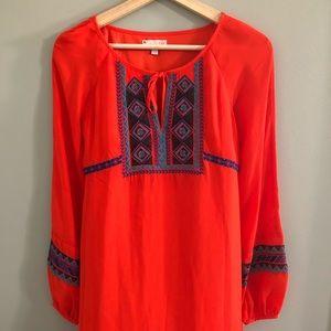NWT Gianni Bini Orange Long-Sleeve Dress